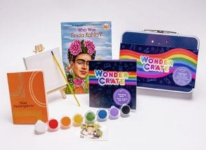 Frida Kahlo box from Wonder Crate Kids Subscription Box For Kids